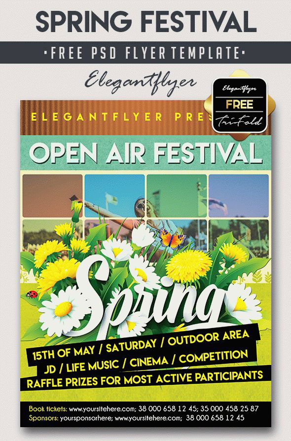 Are you ready for Spring? 20 Awesome PSD Flyer Templates for Spring Events!