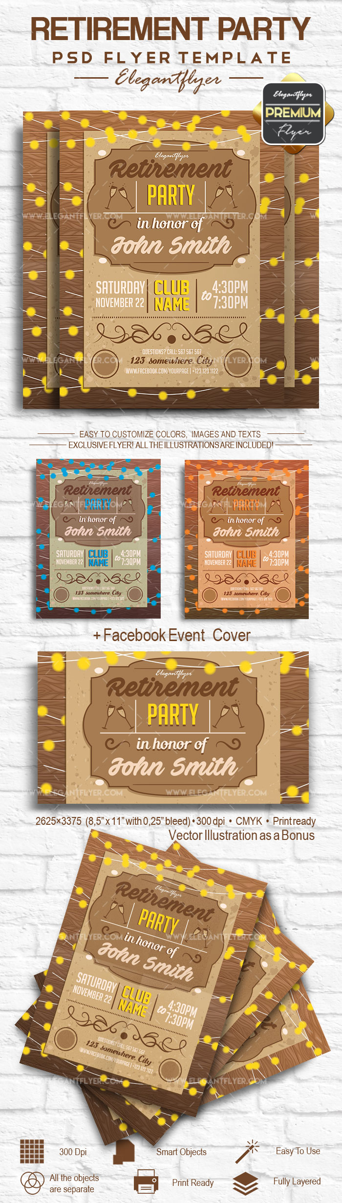 Retirement Party – Flyer PSD Template