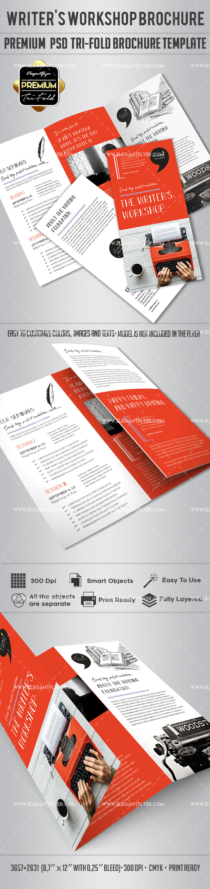 Writers Workshop Brochure Template By ElegantFlyer - Workshop brochure template