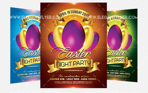 Get Ready for Easter 2018: 20 Free and Premium PSD Flyer Templates