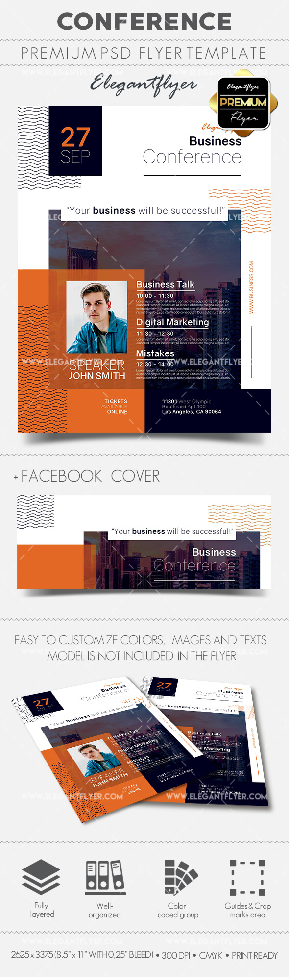 Conference – Flyer PSD Template