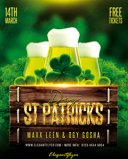 May 2021: 18+ Free and Premium St. Patrick's Day Party Flyer Templates in PSD