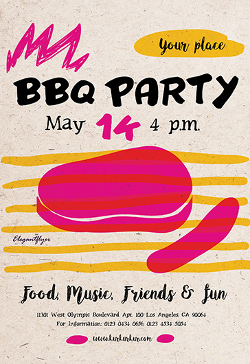 Free Template for BBQ Party