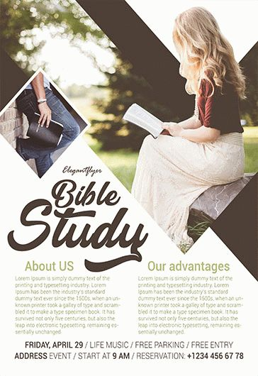 Free Bible Study Flyer Template By Elegantflyer