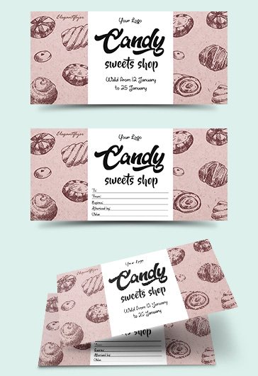 Candy Shop – Free Flyer PSD Template