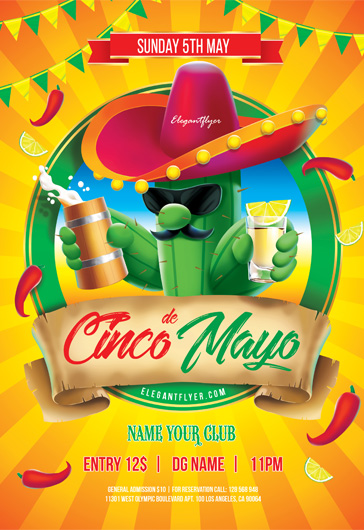 Cinco de Mayo – Flyer PSD Template