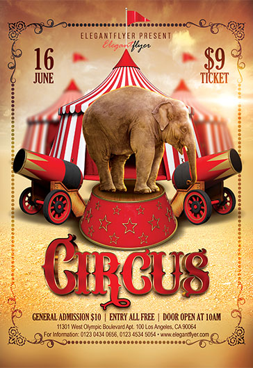 Сircus Template for Photoshop