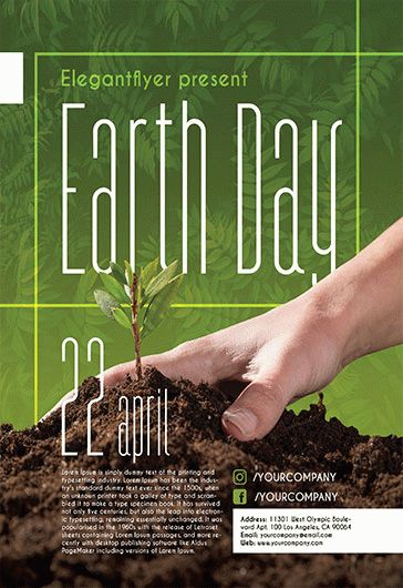 Happy Earth Day PSD Template