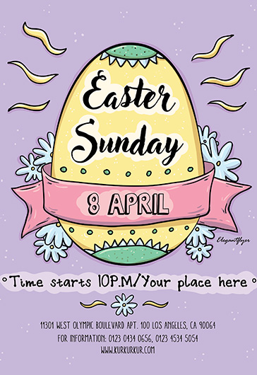 Easter Sunday Flyer PSD Template