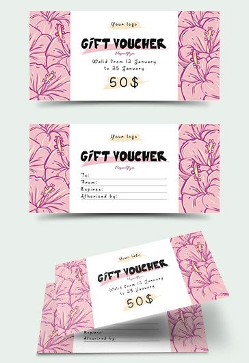 Gift Certificate for Flowers Shop