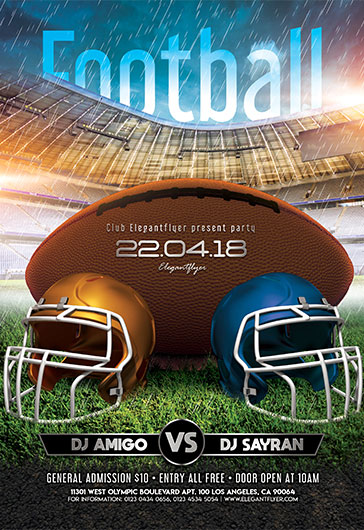 Flyer PSD Football Match