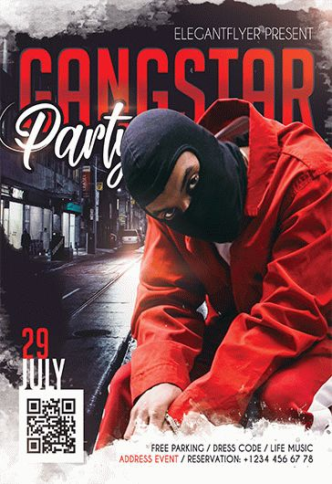 Flyer Template for Gangstar Party
