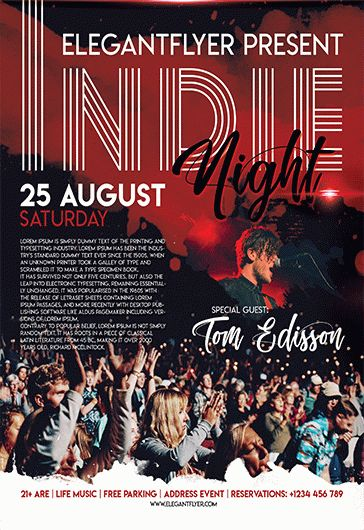 Free Indie Night Flyer Template