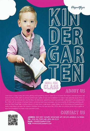 Kindergarten – Flyer PSD Template