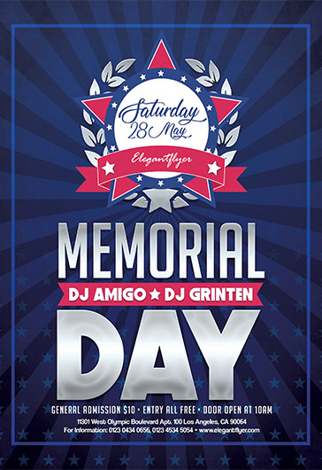 Free Memorial Day Flyer Templates For Photoshop  By Elegantflyer