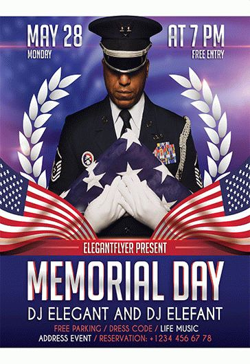 Flyer for Memorial Day Design V03
