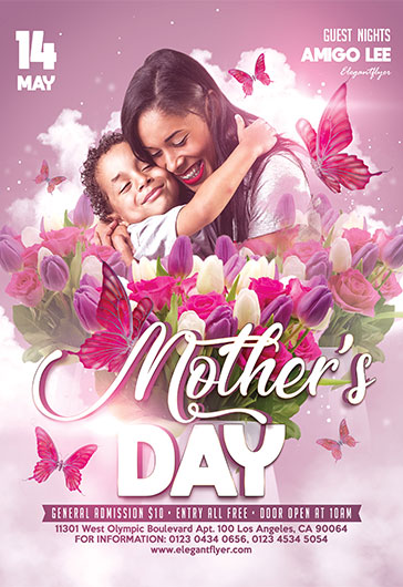 Mother's Day V03 – Flyer PSD Template