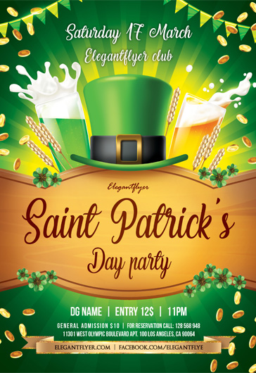 St. Patrick Day party – Flyer PSD Template