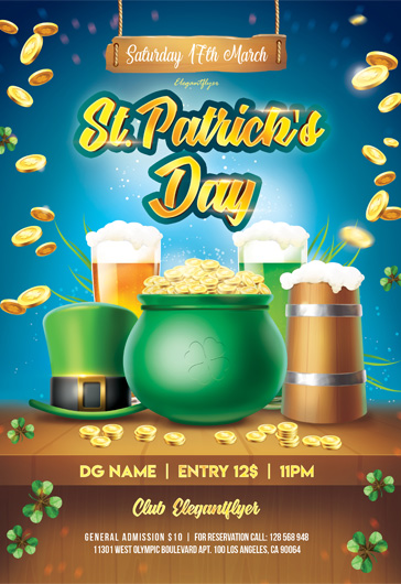St. Patrick Day V04 – Flyer PSD Template