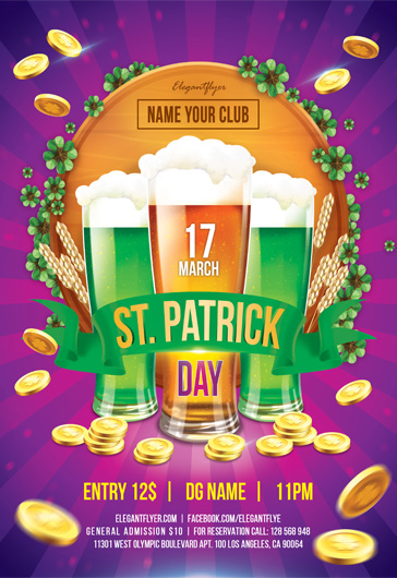 St. Patrick Day – Flyer PSD Template