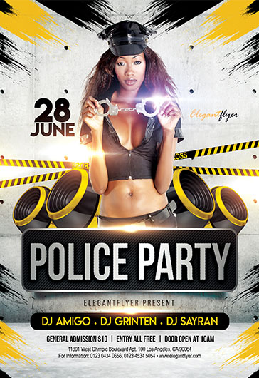 Flyer Template for Police Party