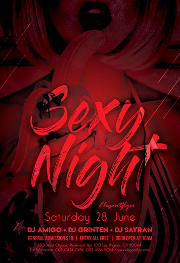 Ladies Night Sexy PSD Flyer