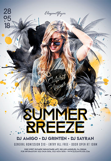 Summer Breeze – Flyer PSD Template