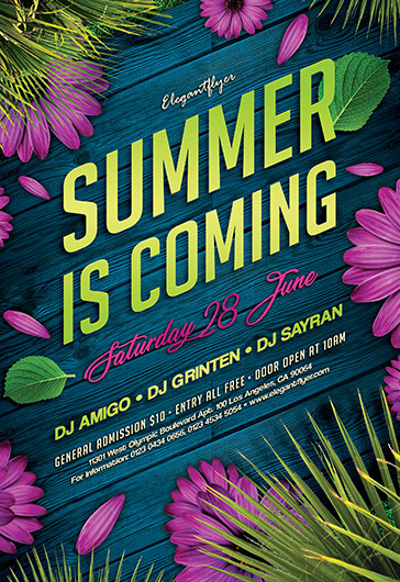 Summer is Coming – Flyer PSD Template