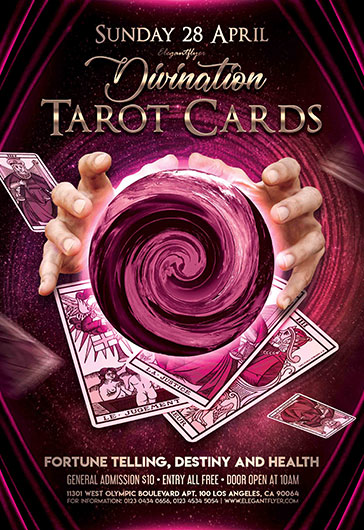 tarot cards  u2013 flyer psd template  u2013 by elegantflyer