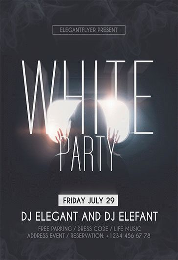 White Party Flyer Event Page