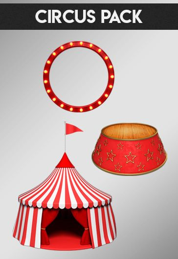 Circus Pack – Free 3d Render Templates