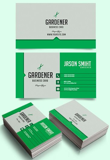 Gardener – Free Business Card Templates PSD
