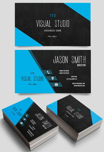 Free business cards templates for photoshop by elegantflyer visual studio free business card templates psd accmission Image collections