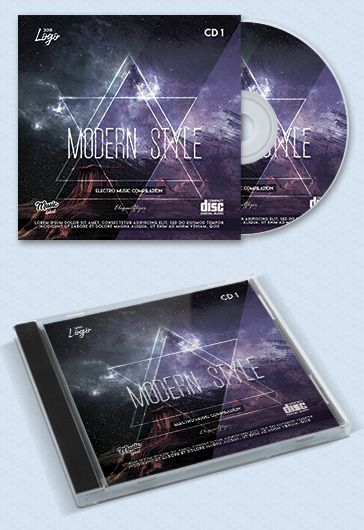 Electro Music – Premium CD Cover PSD Template