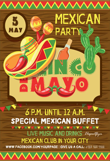 Cinco de Mayo Template for Print