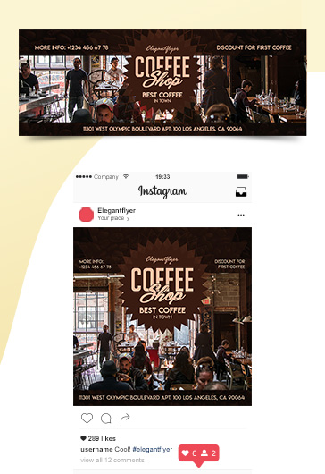 Coffee Shop – Premium Facebook Cover