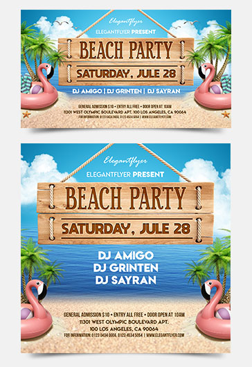 Summer Vacation V02 – Flyer PSD Template