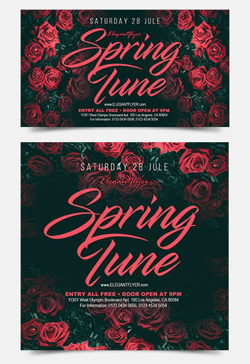 Spring Tune – Free Facebook Event Page