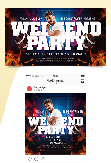 Weekend Party – Premium Facebook Event Page