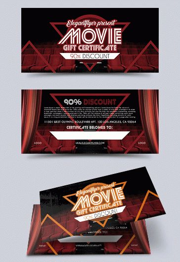 Gift Certificate for Movie