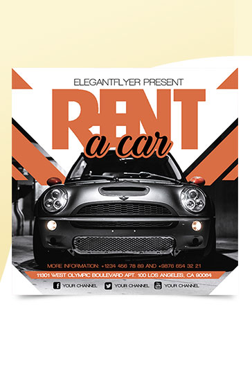 Rent a Car – Free Instagram Banner