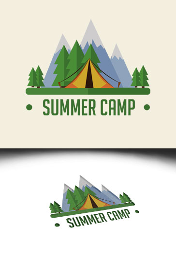 Summer Camp – Premium Logo Template