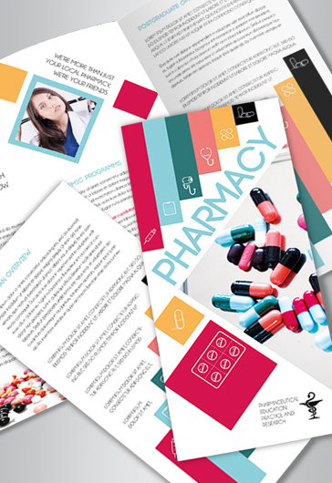 Tri-Fold Brochure for Pharmacy School