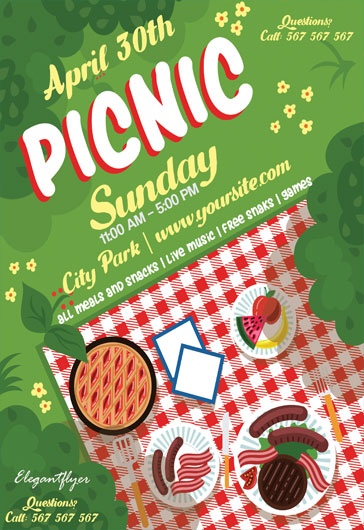 Picnic Sunday – Flyer PSD Template