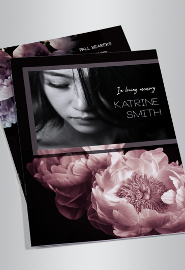 Bi-fold Program for Funeral Template