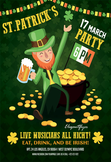 St. Patrick's Party– Flyer PSD Template