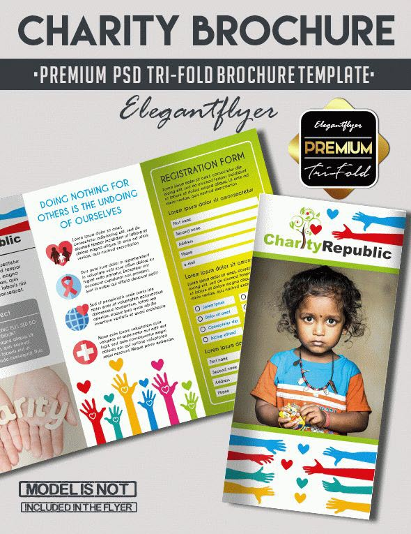 20 Best Free and Premium Non Profit Flyer  Brochure PSD Templates