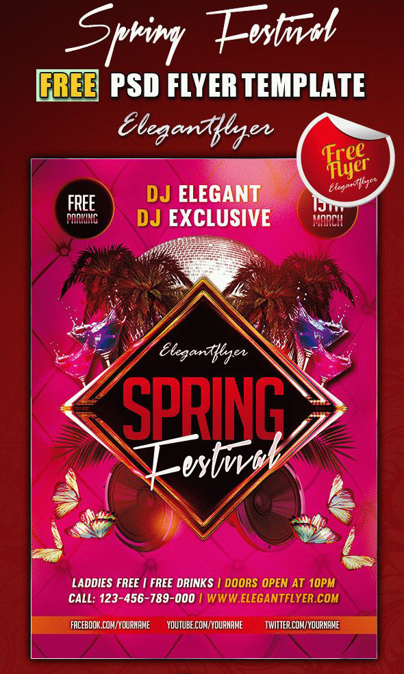May 2021: 28+ Awesome PSD Flyer Templates for Spring Events!