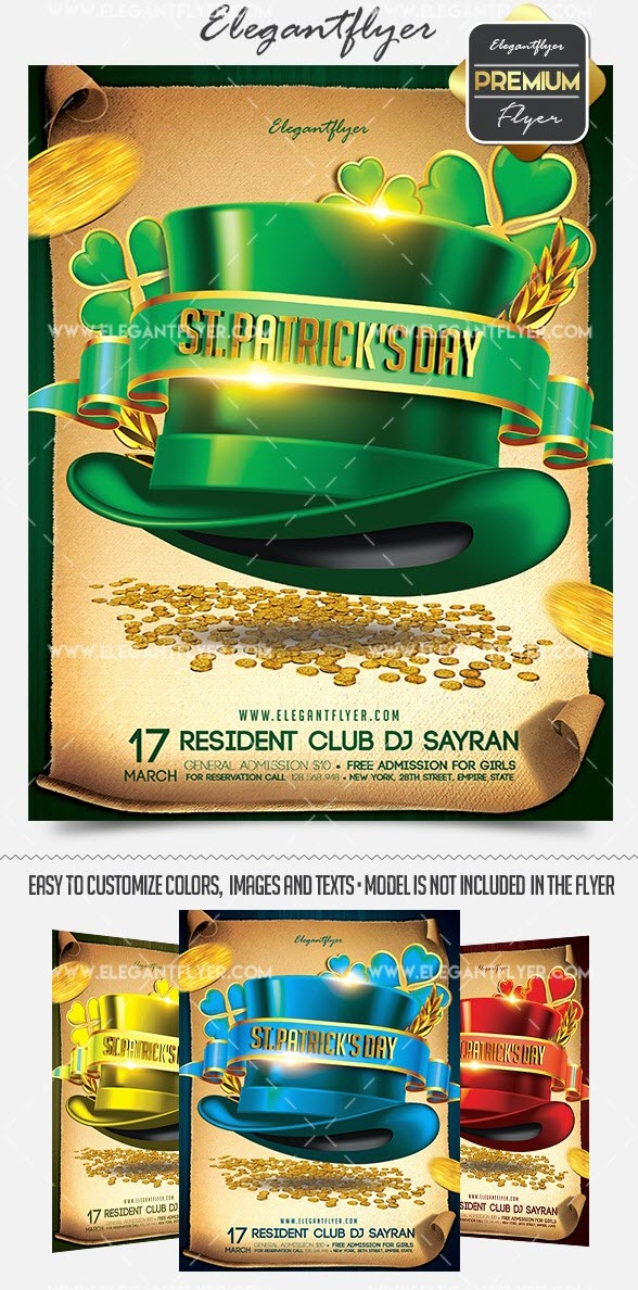 15 Free and Premium St. Patrick's Day Party Flyer Templates in PSD