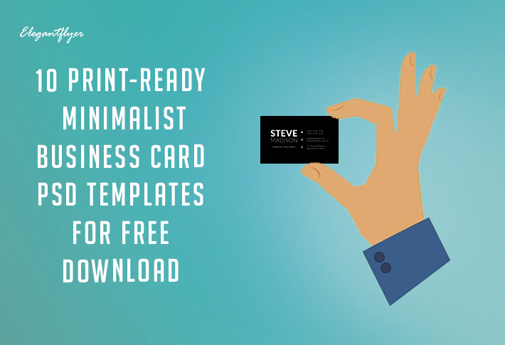 10 Print-Ready Minimalist Business Card PSD Templates for Free Download